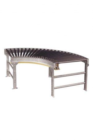 Lineshaft Slave Curve Conveyor